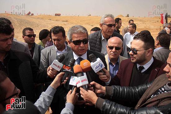 جانب من المؤتمر الصحفى لوزير الرياضة