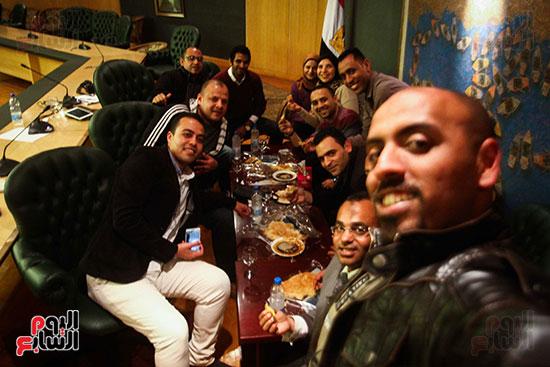 نقيب الصحفيين  عبد المحسن سلامة فى نقابة الصحفين (14)