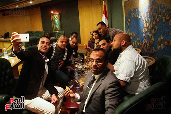 نقيب الصحفيين  عبد المحسن سلامة فى نقابة الصحفين (11)