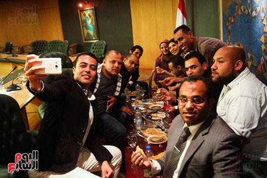 نقيب الصحفيين  عبد المحسن سلامة فى نقابة الصحفين (12)