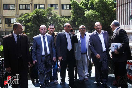 نقيب الصحفيين الجديد في اول يوم في نقابة الصحفيين ومؤتمر صحفي (1)