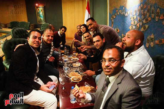 نقيب الصحفيين  عبد المحسن سلامة فى نقابة الصحفين (13)