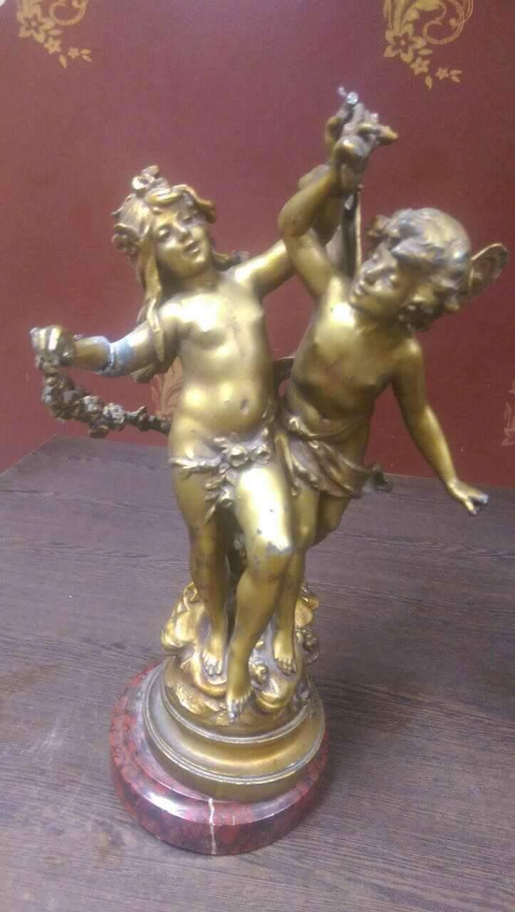 تمثال ملاكين من البرونز