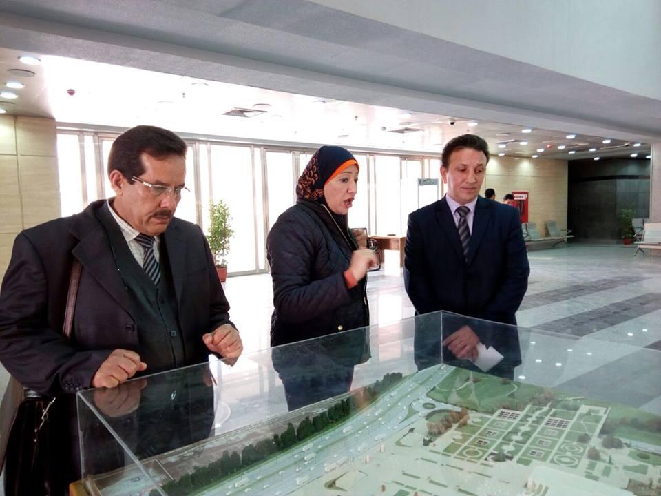 رئيس مصلحة الآثار الليبية  يزور متحف الحضارة