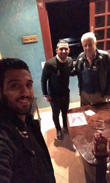 أحمد الشناوى مع مرتضى منصور