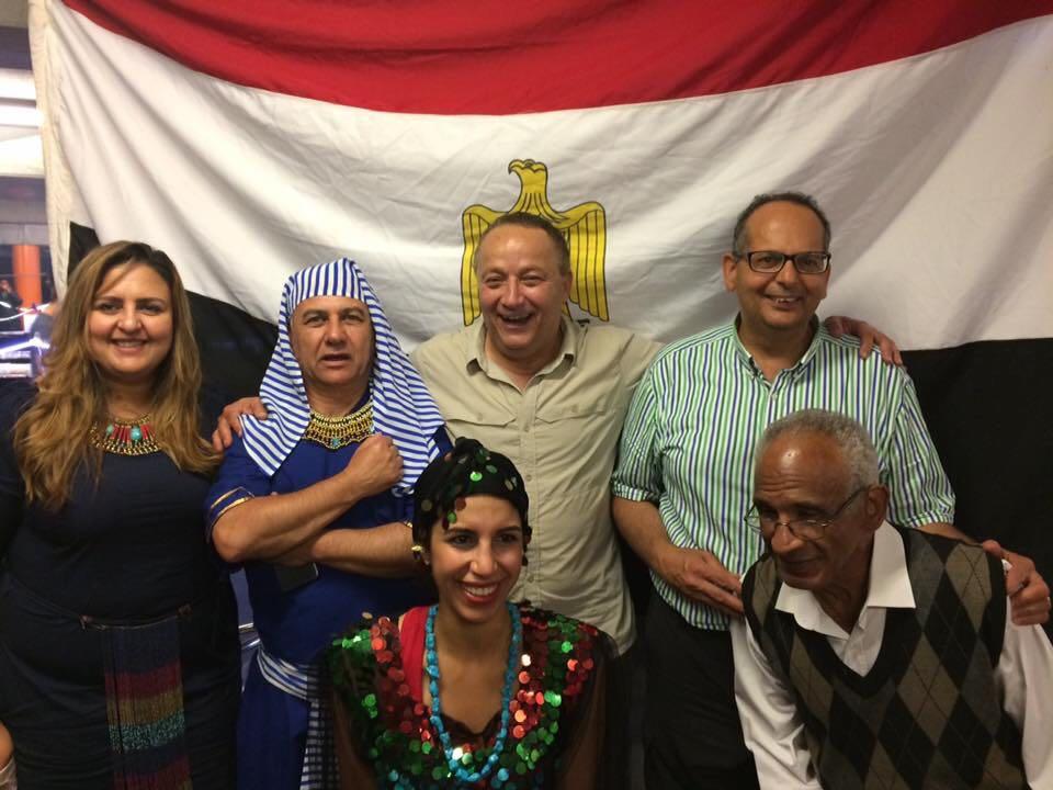 جانب من مشاركة المصريين فى بولندا للسياحة المصرية