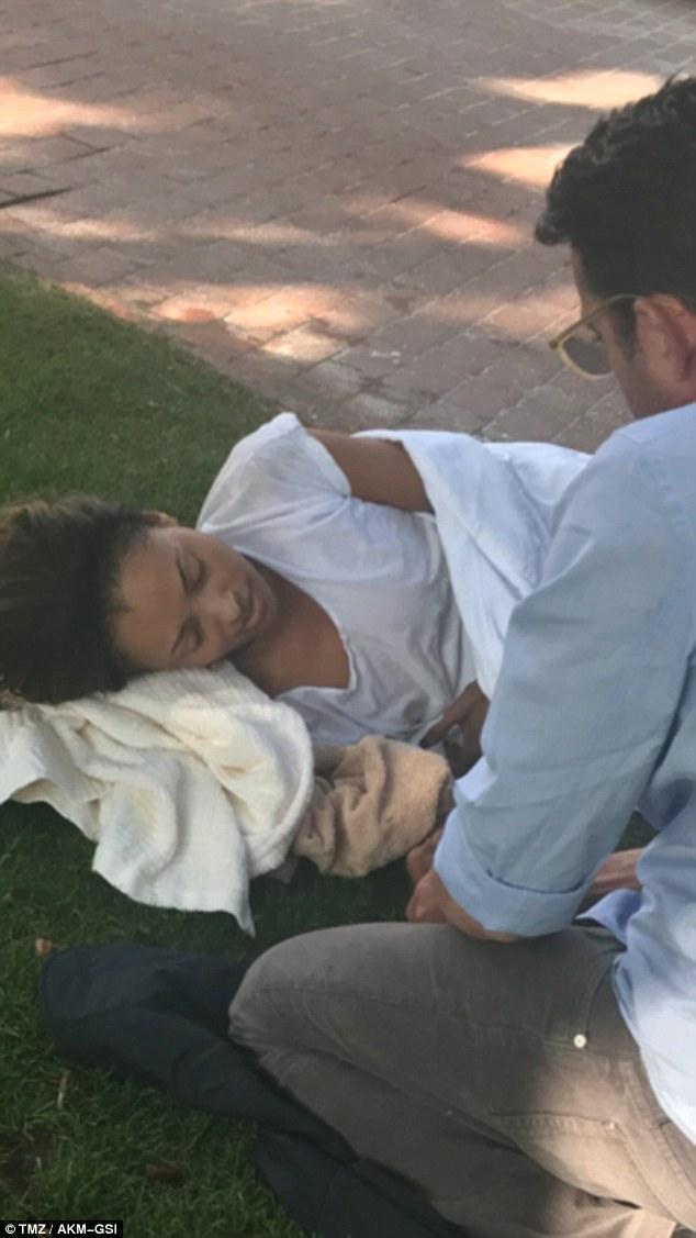 كارت جراهام بعد تعرضها للإغماء