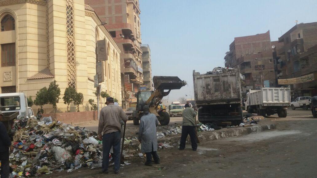 حملة نظافة بمنطقة بهتيم
