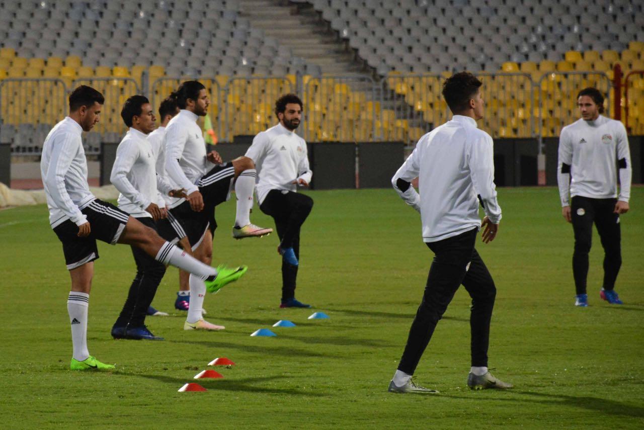 محمد صلاح في تدريب المنتخب