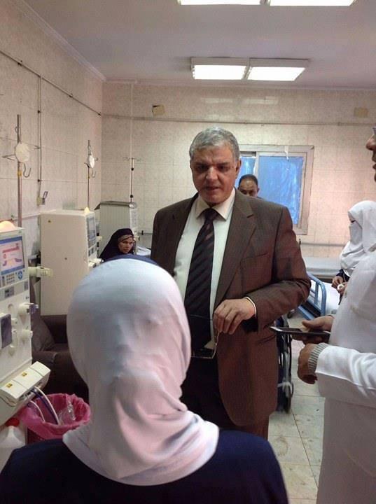 مرور فريق الاشراف بالمديرية على مستشفى قويسنا المركزى (4)