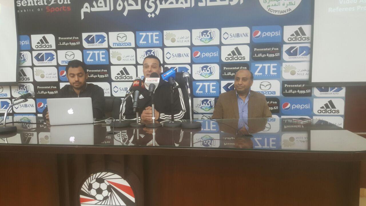 عصام عبد الفتاح والمخرج محمد نصر في مؤتمر الحكام