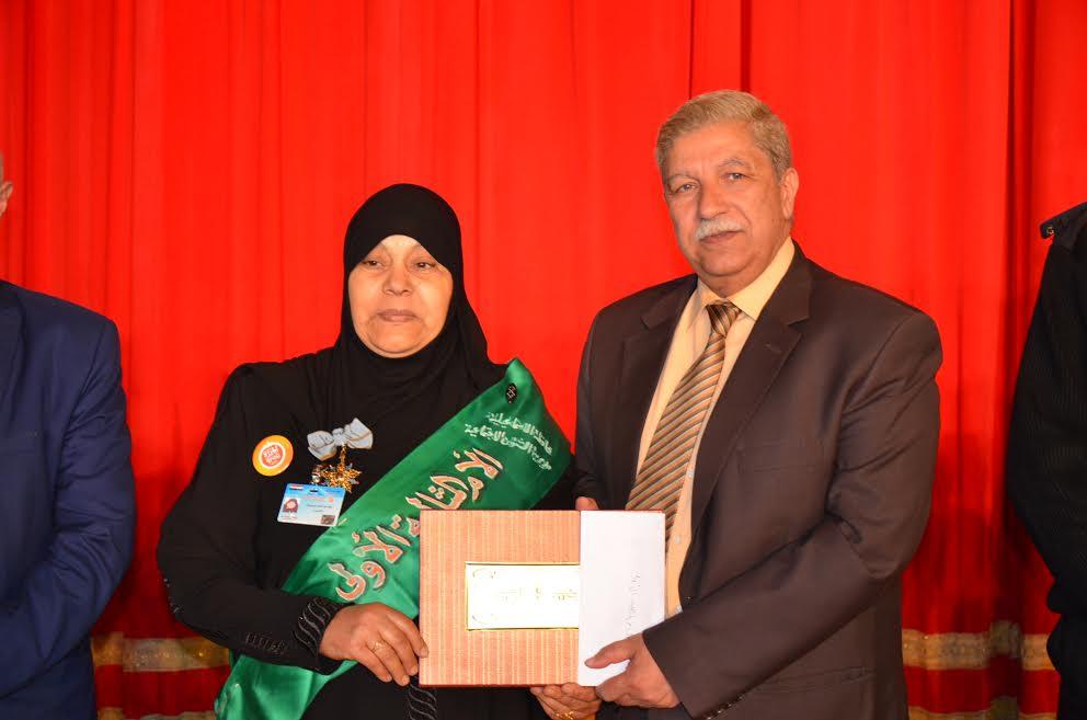 6- شهادة تقدير للأم المثالية  الألى  وفية عبدالحميد