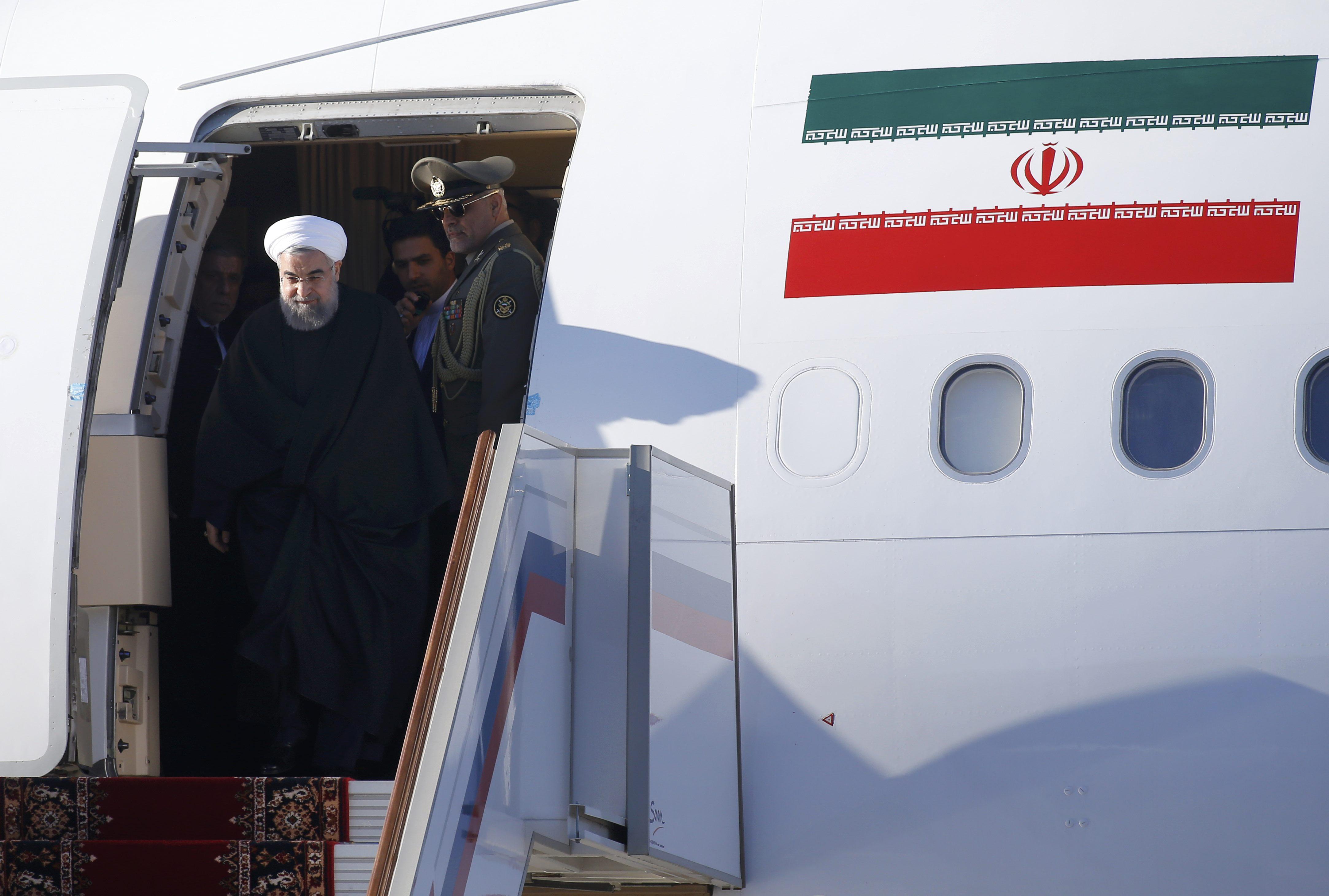 روحاني يصل روسيا (3)