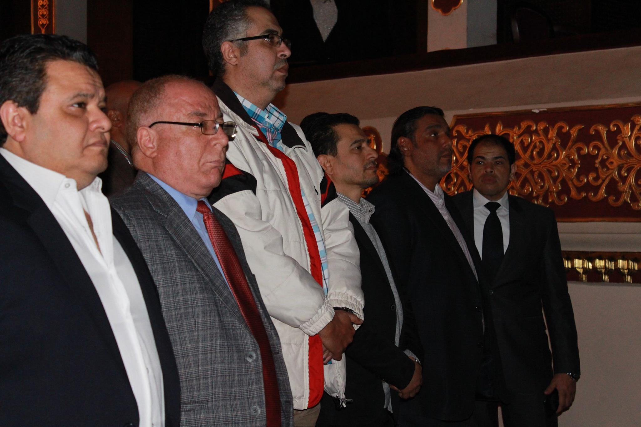 وزير الثقافة وخالد جلال ورئيس البيت الفنى للمسرح وأحمد السيد