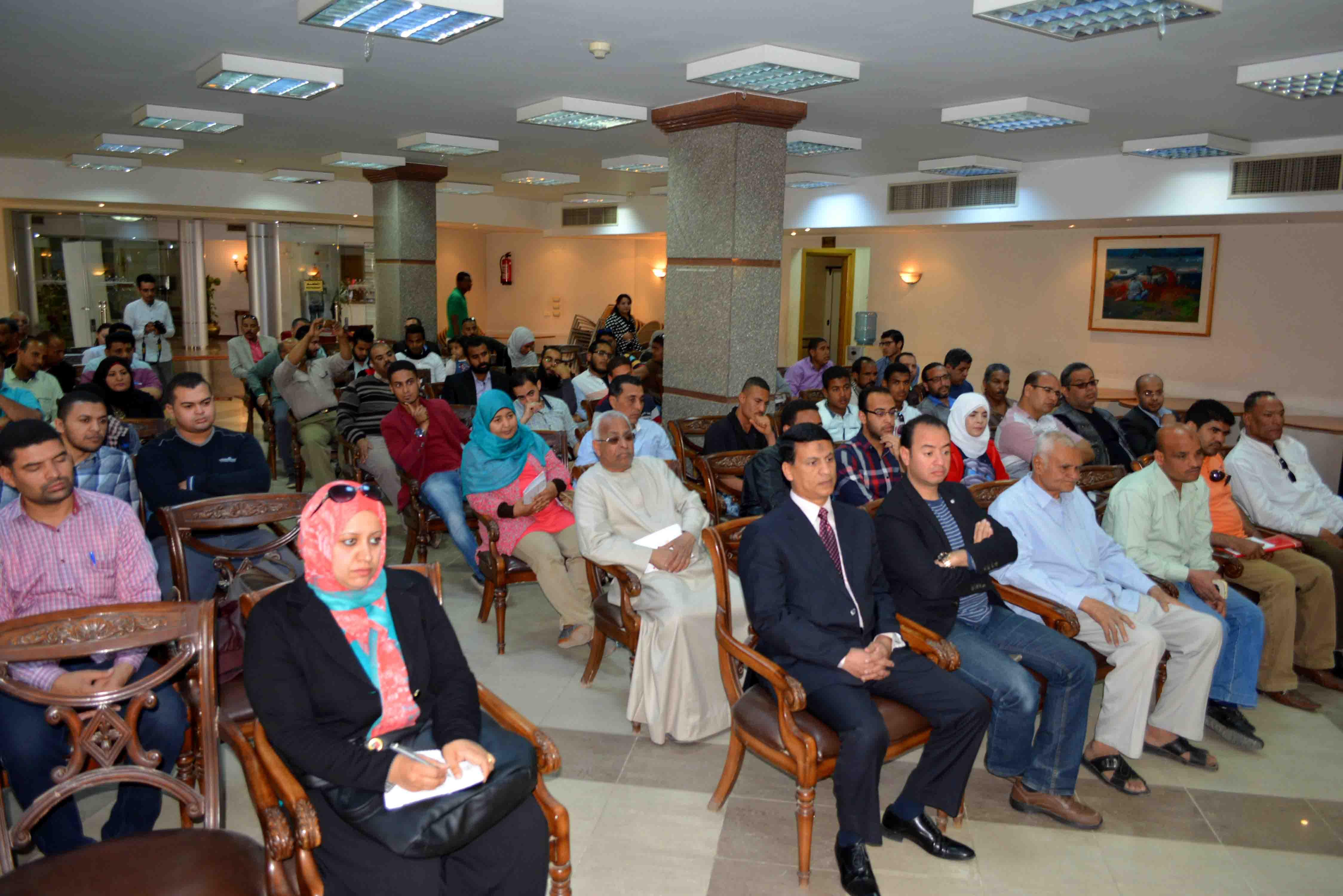 3- جانب من حضور لقاء تعريفي بمشروع امكان لليونيدو