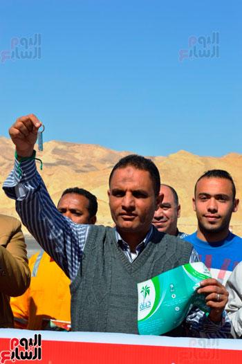 رئيس مدينة أبو زنيمة يستقبل الوفد