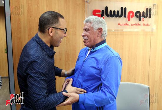 زياره حسن شحاتة لليوم السابع (3)