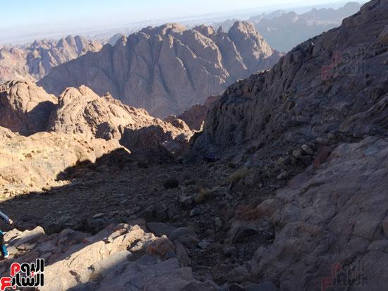 أثناء رحلة صعود الجبل