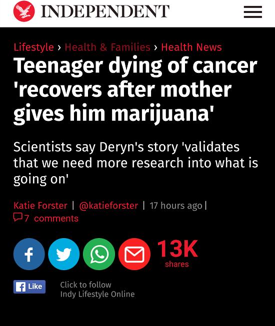 صحيفة الإندبندينت تسلط الضوء على قصة الطفل
