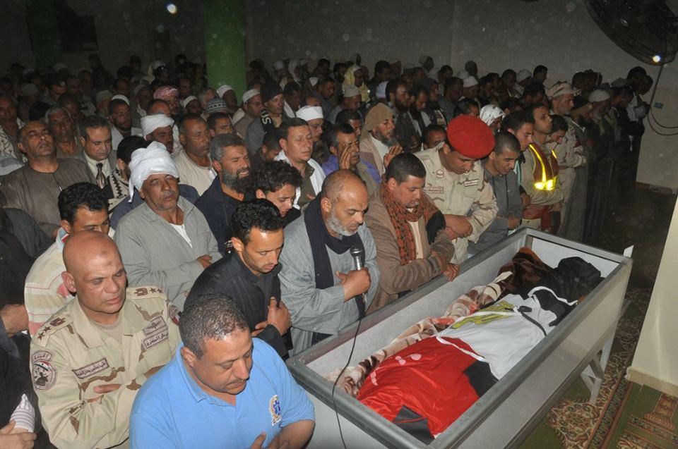 1- تشييع جثمان شهيد العمل الإرهابي
