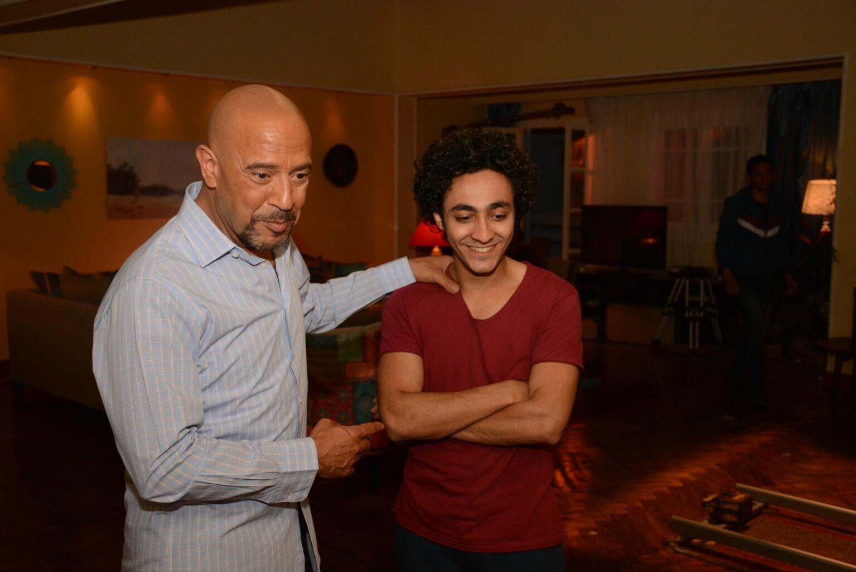 أشرف عبد الباقي في كواليس المسلسل (2)
