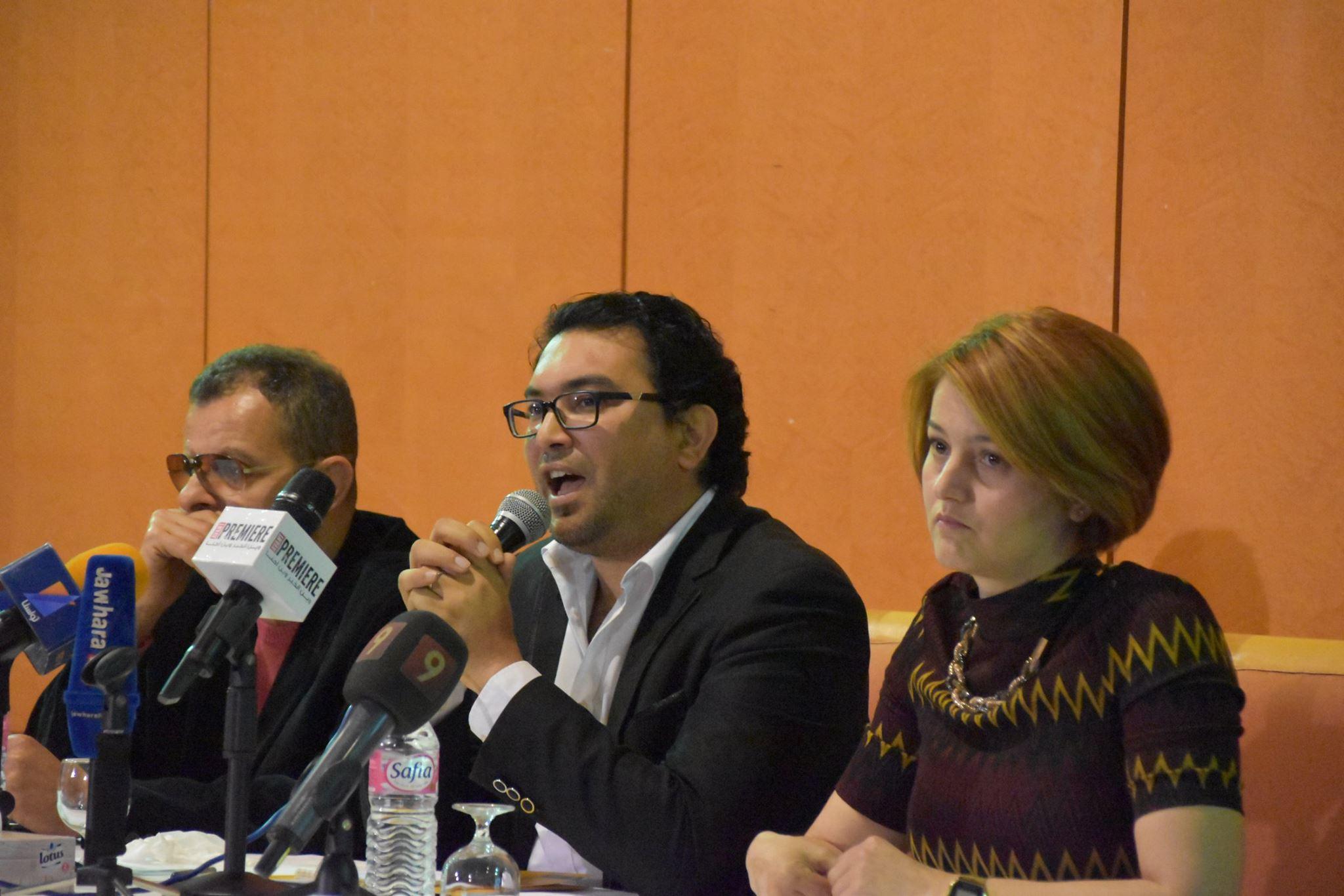 جانب من المؤتمر الصحفي الخاص بالمهرجان وإعلان تفاصيل الدورة الجديدة