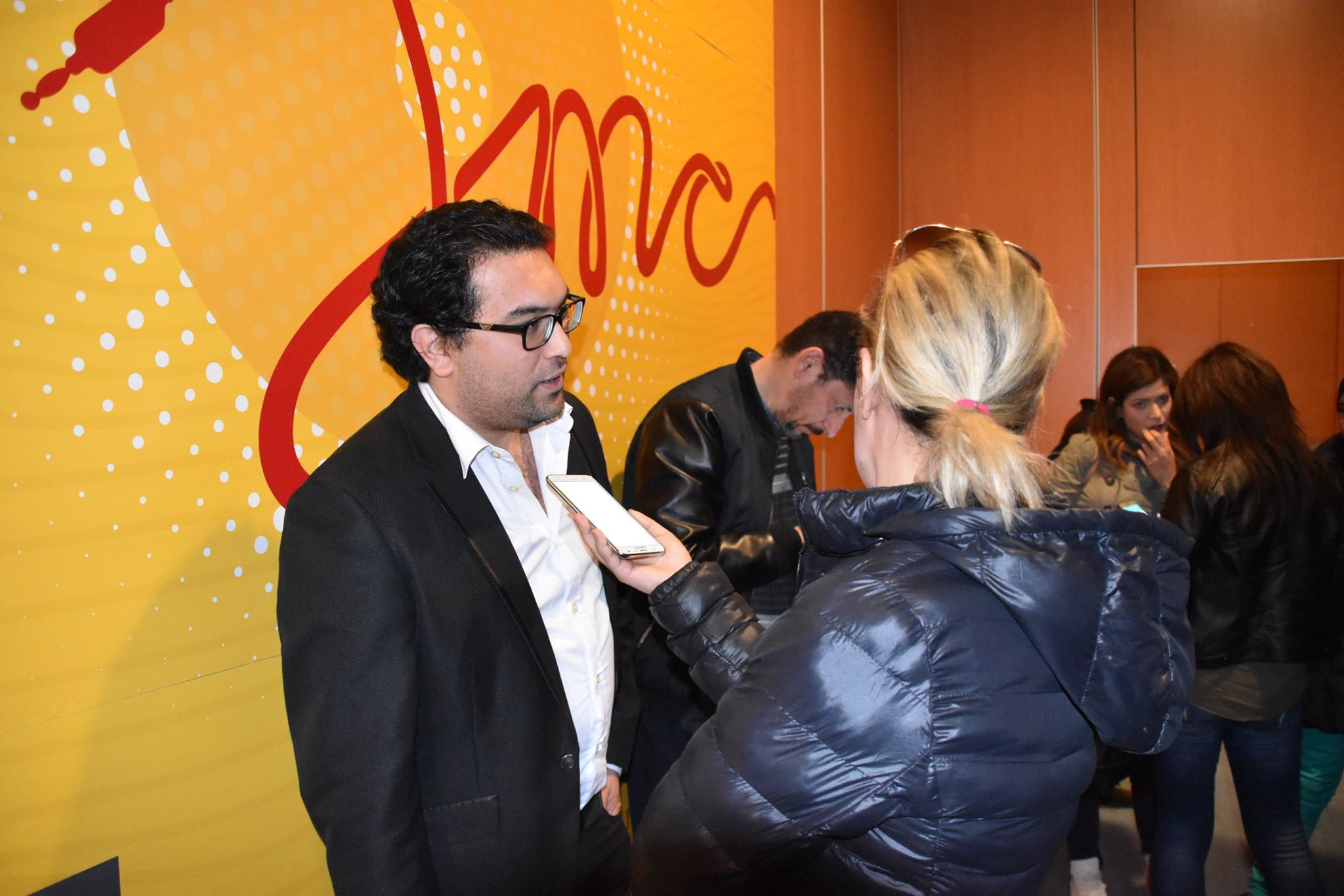 الدكتور حمدي مخلوف في المؤتمر الصحفي