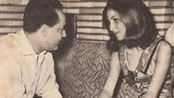 المخرج عادل صادق مع الفنانة زيزي البدراوي