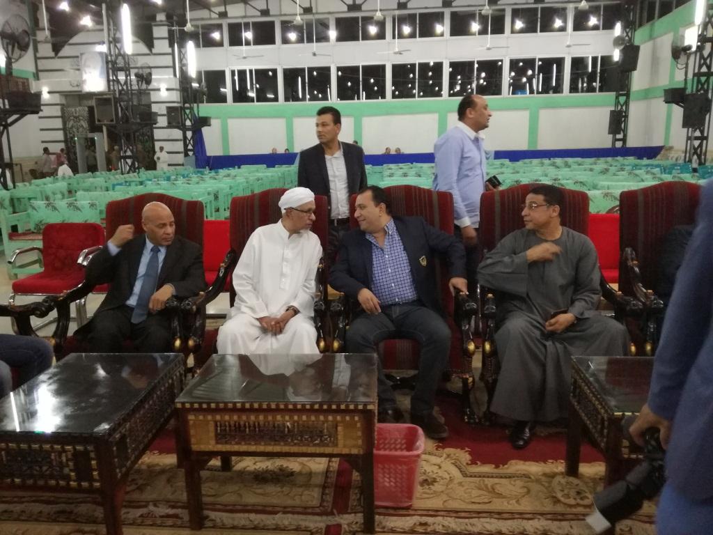 قيادات الاقصر في حضور فعاليات مولد الشيخ أحمد رضوان