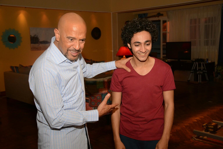 أشرف عبد الباقي في كواليس المسلسل (3)
