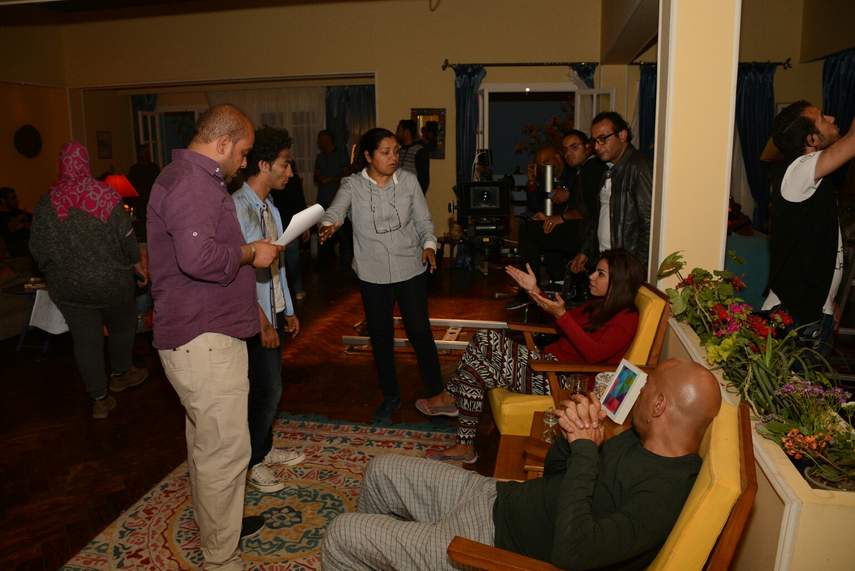 كواليس تصوير مسلسل عائلة زيزو (2)