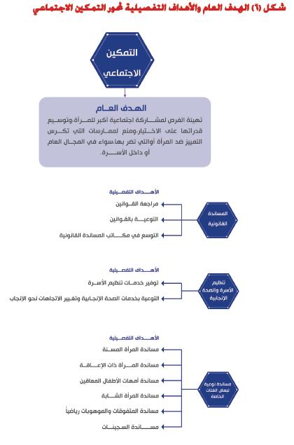الهدف العام والأهداف التفصيلية لمحور التمكين الاجتماعى