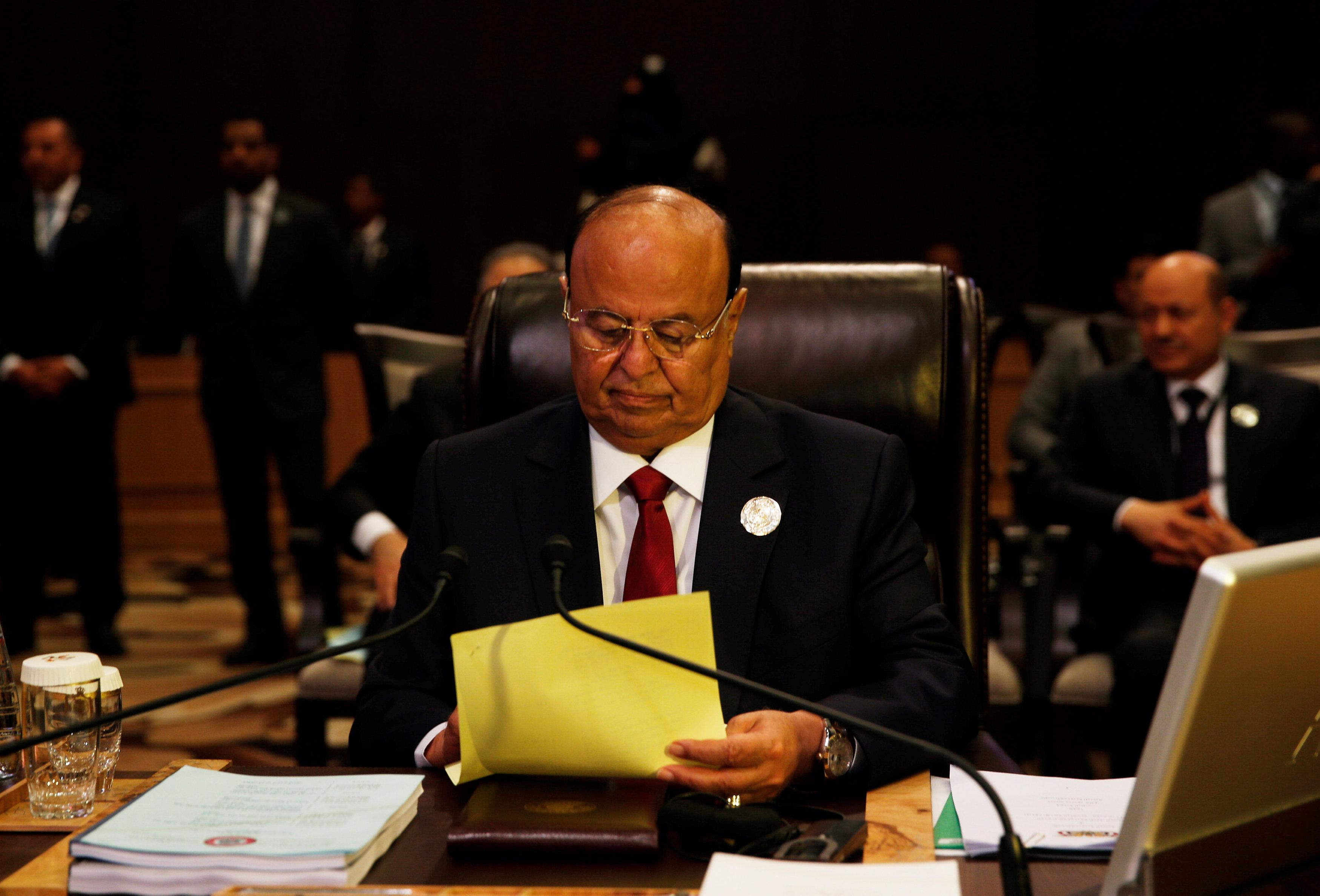 الرئيس اليمني عبد بره منصور هادي