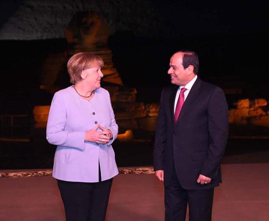 الرئيس-عبد-الفتاح-السيسى-وميركل-(5)