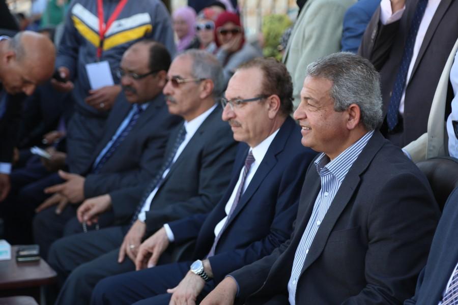 وزير الشباب ومحافظ بنى سويف خلال الحفل