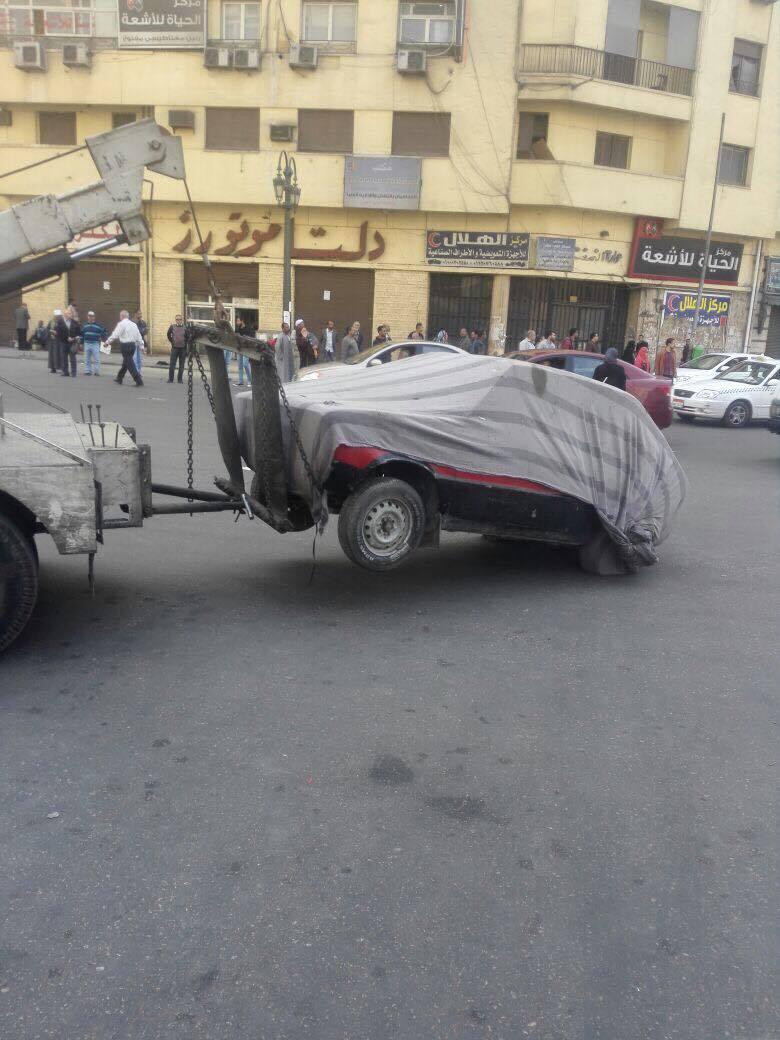 رفع سيارات متهالكه من شوارع القاهره (9)