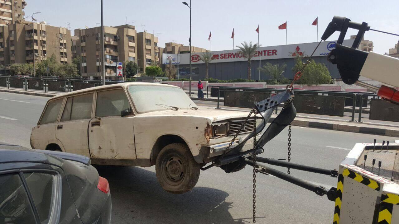 رفع سيارات متهالكه من شوارع القاهره (7)