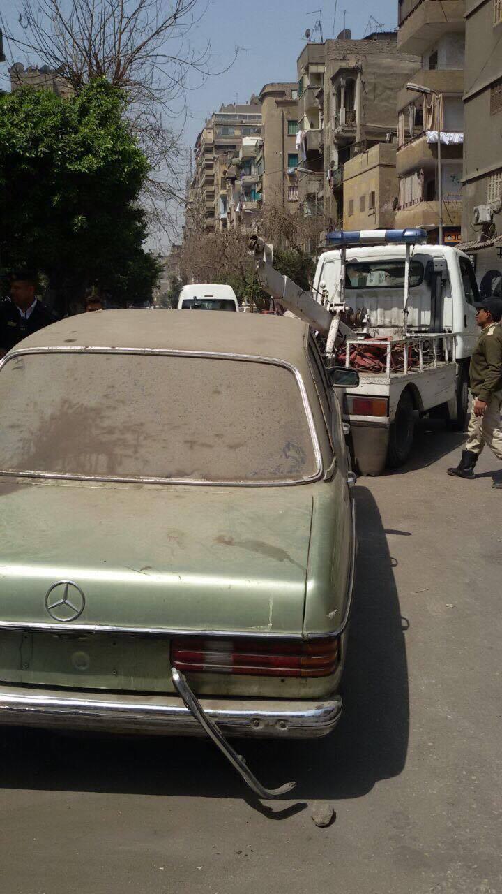 رفع سيارات متهالكه من شوارع القاهره (6)