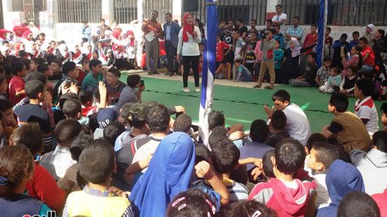 الطلاب أثناء الحفل