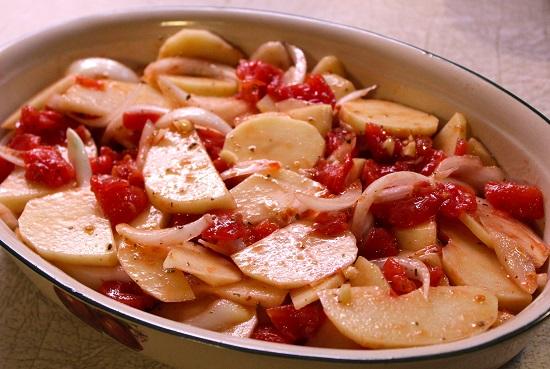 طريقة عمل صينية البطاطس باللحمة2
