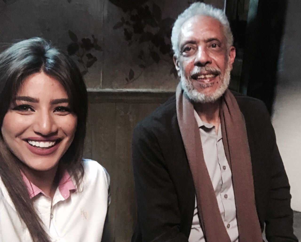 هايدى موسى مع الفنان نبيل الحلفاوى