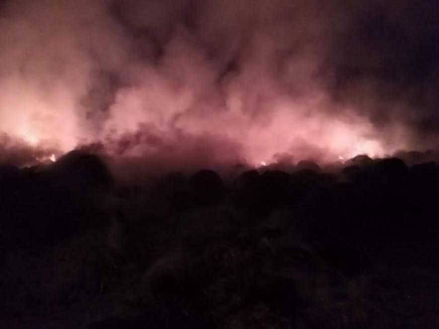 النيران بشونة قش بفوه