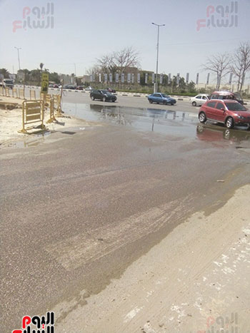كسر-ماسورة-مياه-بمدينة-نصر