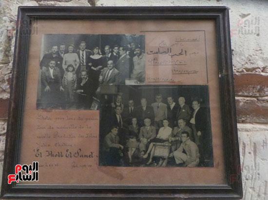 صورة تذكارية لبدء فيلم الحب الصامت بطولة يحيى شاهين