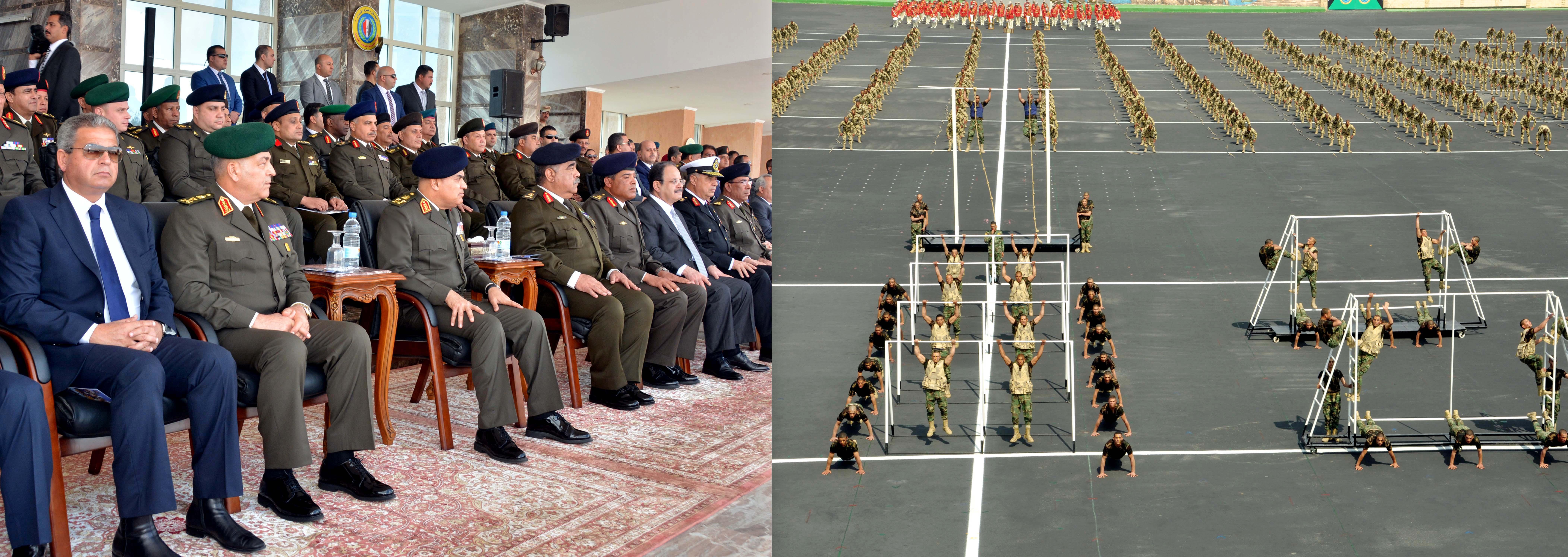 تخريج الدفعة 154 متطوعين من معهد ضباط الصف المعلمين بالقوات المسلحة