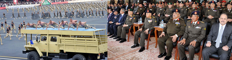 وزير الدفاع يشهد حفل تخريج معهد صف الضباط