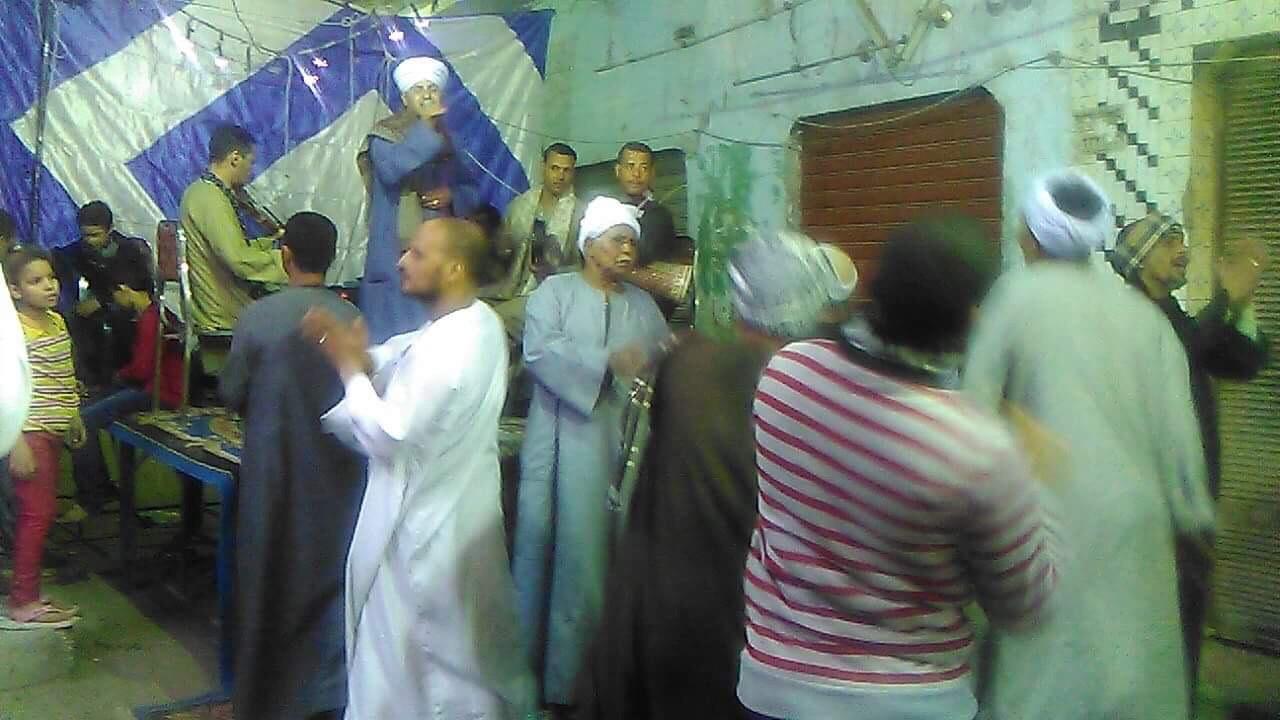 الشيخ ايمن هريد خلال الحفل