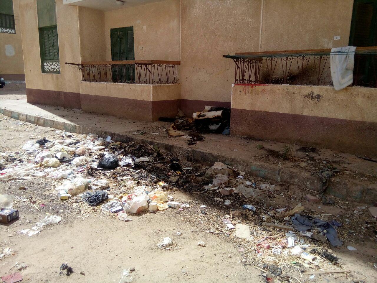 الاهمال يسيطر على مساكن حى الأوقاف الجديدة بالخارجة  (5)