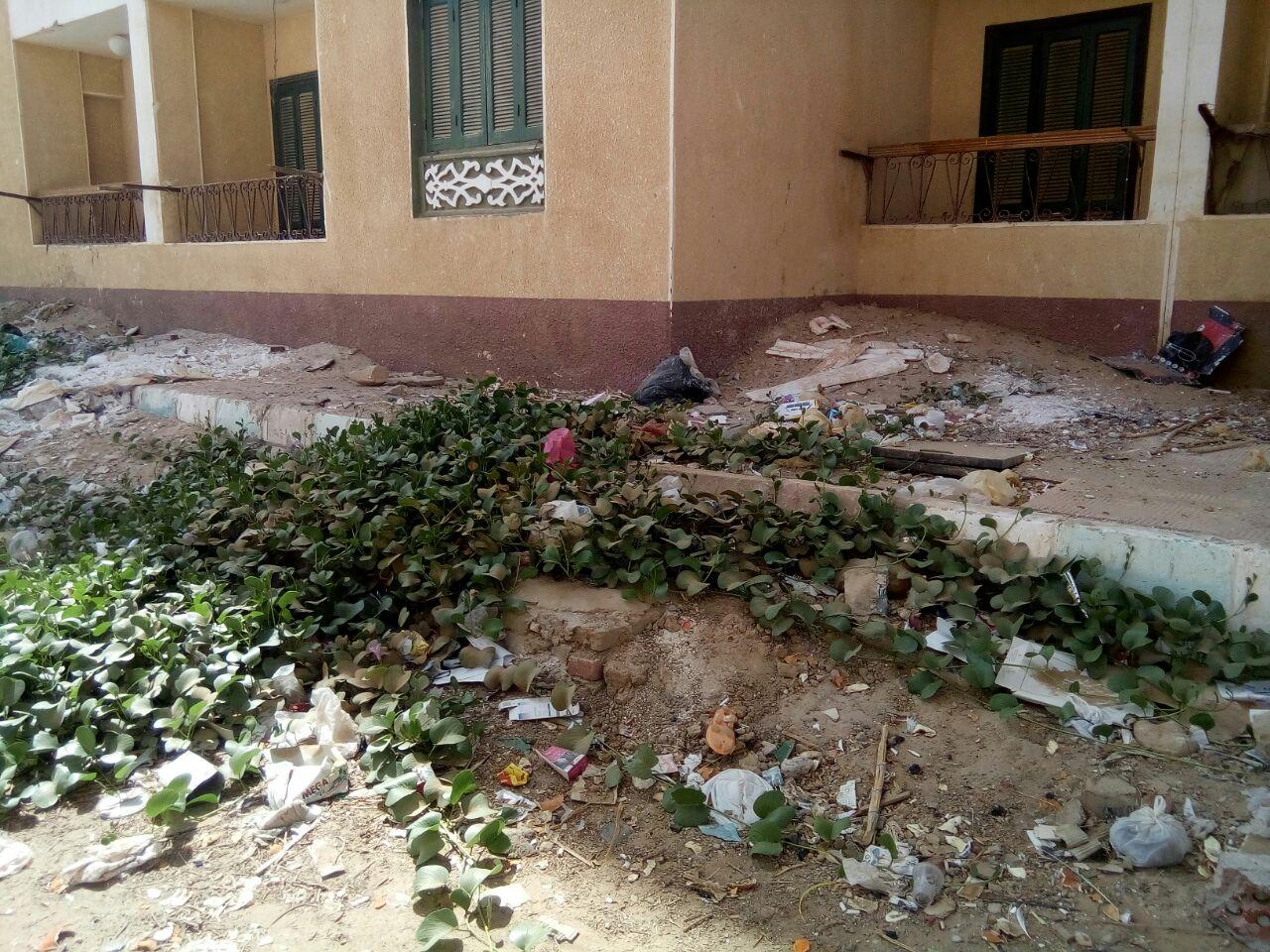 الاهمال يسيطر على مساكن حى الأوقاف الجديدة بالخارجة  (8)