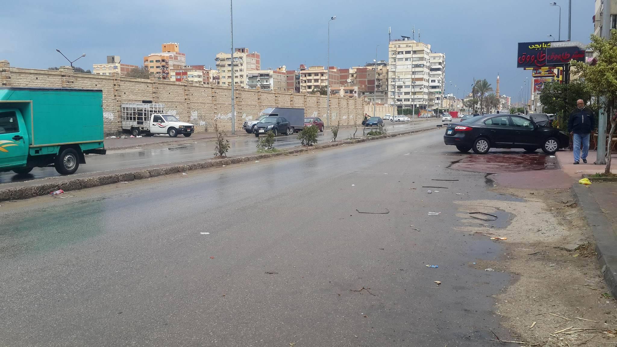 مظهر الشوارع عقب تساقط غزير للامطار